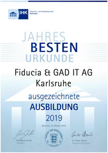 Fiducia & GAD IT AG - IHK Bestenehrung 2019