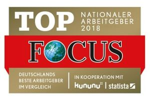 FOCUS Business - TOP Nationaler Arbeitgeber 2018