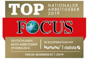 FOCUS Business - TOP Nationaler Arbeitgeber 2019