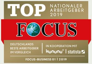 Hoffmann SE - FOCUS Business - TOP Nationaler Arbeitgeber 2019